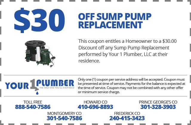 Sump Pump Replacement Coupon