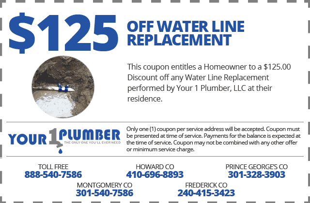 Water Line Replacement Coupon